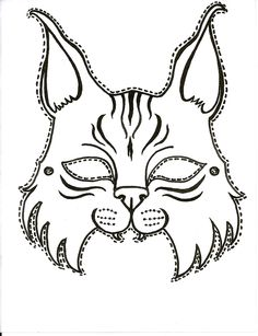 Printable Bobcat mask for the next big game. Tiger Scouts, Cub Scouts, Animal Masks For Kids, Mask For Kids, Animal Mask Templates, Vanellope Y Ralph, Cub Scout Crafts, Scout Mom, Printable Masks