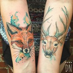 The deer is healed, the fox is fresh. Thank you Leah!