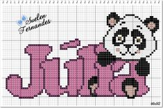 Julia, Charts, Minnie Mouse, Diy And Crafts, Cross Stitch, Character, Cross Stitch Baby, Boy Names, Female Names