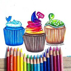 Wich is your favorite?!!Follow us!@trendyartworks Amazing media cupcakes by @creativexstarz Tag your friends