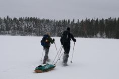 This is for one of our snowshoe hikes. Here we cross lake Skärsjön and it's soon time for some hot goulash soup at a shelter further away. Goulash Soup, Vacation Wishes, Snowshoe, See Picture, Shelter, Places To Go, Hiking, Adventure, Hot