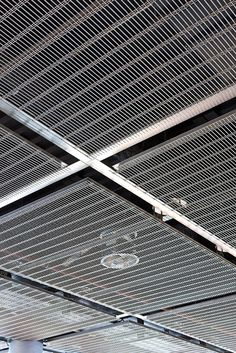 Removable Mesh Ceilings System. To avoid sagging, the HAVER Architectural Mesh is mounted under pretension onto frames. To remove the frame, the panels could be taken out of the ceiling structure, or a hinge-joint or sliding mechanism can be provided.