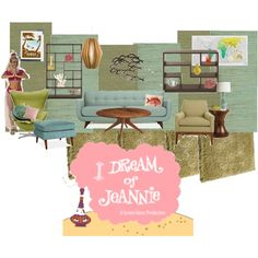 I Dream of Jeannie living room by shelleybarkley on Polyvore featuring polyvore, interior, interiors, interior design, home, home decor, interior decorating, Kartell, De La Espada and Hudson Jeans