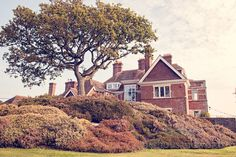 View of Studland Bay House Wedding. Photography by one thousand words wedding photographers