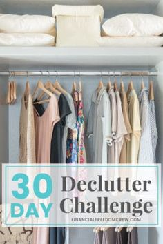 30 Day Declutter, Clean, and Organize Challenge - MAKE MONEY with your unused stuff! Declutter Your Home, Organizing Your Home, Organizing Tips, Decluttering Ideas, Organising, Budget Help, Clutter Free Home, Home Management, Frugal Living Tips