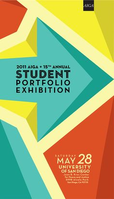 The branding/identity for the 2011 San Diego AIGA Student Portfolio Exhibition.
