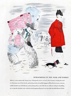 Schiaparelli in the wild and woolly 1940 Marcel Vertes