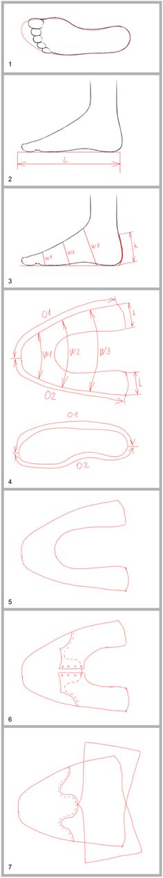 Basic shoe pattern making Sewing Hacks, Sewing Tutorials, Sewing Patterns, Clothes Patterns, Dress Patterns, Fabric Crafts, Sewing Crafts, Sewing Projects, Crochet Shoes
