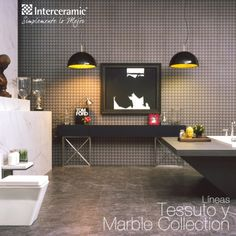 Línea Tessuto y Marble Collection de #Interceramic