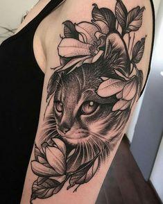coolTop Geometric Tattoo – Was ist dein Lieblings-Tattoo von Daniel Baczmaga … - tatoo feminina Nature Tattoos, Body Art Tattoos, Sleeve Tattoos, Black Cat Tattoos, Animal Tattoos, Tatuaje Trash Polka, Cat Portrait Tattoos, Petit Tattoo, Cat Tattoo Designs