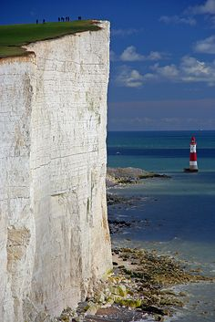 Cliffs at Beachy Head - The highest cliffs in Britain.  Located in southern England, Immediately east of the Seven Sisters, close to Eastbourn in East Sussex. ENGLAND
