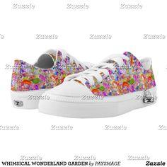 WHIMSICAL WONDERLAND GARDEN Low-Top SNEAKERS Kids Sneakers, Custom Sneakers, Designer Shoes, Sage, Whimsical, Wonderland, Your Style, Pairs, Artists