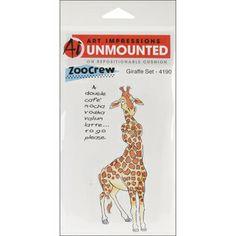 Art Impressions Zoo Crew Cling Rubber Stamp-Giraffe Set