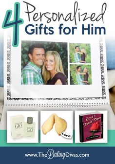 Need a gift idea for your man?  Check out these 4 personalized ideas for an extra meaningful present. www.TheDatingDivas.com #fathersday #anniversary #giftforhim