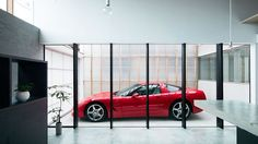 Modern House Designed for Car Lovers Glorifies the Garage - Curbed