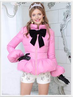 Morpheus Boutique  - Pink Bow Zipper Down Jacket Coat Outwear, $169.99 (http://www.morpheusboutique.com/pink-bow-zipper-down-jacket-coat-outwear/)