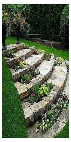 Garden Steps, Diy Garden, Garden Cottage, Garden Paths, Brick Garden, Gravel Garden, Garden Club, Garden Bed, Garden Flags