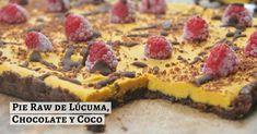 Pie Raw de Lúcuma, Chocolate y Coco -Cómo hacer un postre sin harina y sin leche - La espátula verde