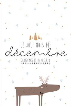 Carte postale de décembre à imprimer - Freebie et Printable