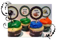Free printable cupcake toppers-Football theme