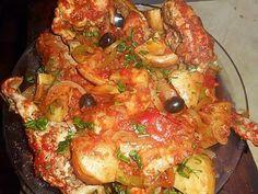 La meilleure recette de Fricassée de lapin à la méridionale! L'essayer, c'est l'adopter! 5.0/5 (9 votes), 11 Commentaires. Ingrédients: Un lapin coupé en morceau par le boucher, 3 oignons, un poivron vert,un poivron rouge, 3 gousse d ail, 6 fonds d artichaut( perso congelés),12 olives noires,un citron confit une boite de pulpe de tomate, huile d olive,herbes de provence,10 cl de vin blanc sec, 5 cl de pastis, une cac de graines de fenouil, une de paprika,une de cumin en poudr...