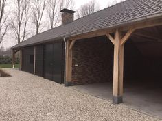 Timber Garage, Pergola, Garden Studio, Shed Design, Garage Doors, New Homes, Yard, Construction, Outdoor Structures