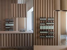 Brooks   Scarpa layout a tube clad keep for Aesop in Los Angeles