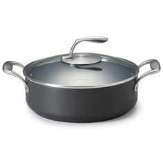 Chef Series II 4.3-Qt./4 L Sauteuse with Glass Cover:          Harder than steel…