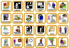 pienet kortit Early Education, Early Childhood Education, Special Education, Teaching Aids, Teaching Kindergarten, Preschool, Learn Finnish, Finnish Words, Finnish Language