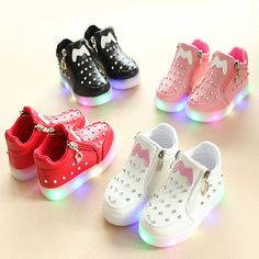 04a4e7d45be New 2018 fashion high quality LED light baby casual shoes diamond princess  girls boys sneakers Lovely fashion baby boots shoes.