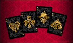 Playing cards. Design and illustration by Sergienko Anastasia