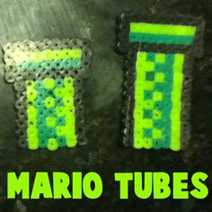 1st image mario tubes perler beads1 step How to Make Warp Pipes from Super Mario Bros. with Perler Beads