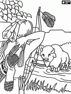 Coloring Sheet - Native American