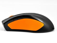 "Bluetooth Optical Mouse ""Seenda"" - 1600DPI, Built-in Speaker (Orange)"