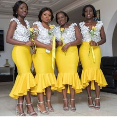 African Nigeria Bridesmaid Dress With a Style and Fashion Twist African Print Wedding Dress, African Bridesmaid Dresses, African Wedding Attire, Mermaid Bridesmaid Dresses, Bridesmaid Dress Colors, Backless Prom Dresses, Ankara Dress Designs, Afro, African Traditional Dresses