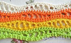 Разноцветный узор крючком, мастер класс