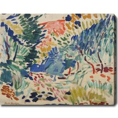 Henri Matisse 'Landscape at Collioure' Gallery-wrapped Canvas Art - Overstock™ Shopping - Top Rated Canvas
