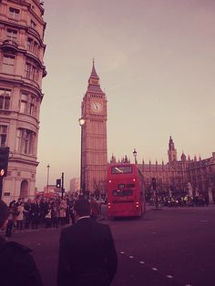 #British #England #London #Big Ben #Red bus