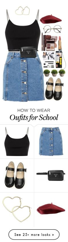 """90's"" by tiramisulatte on Polyvore featuring Alexander Wang, Topshop, Thalia Sodi, Prada, Bobbi Brown Cosmetics and Chanel"
