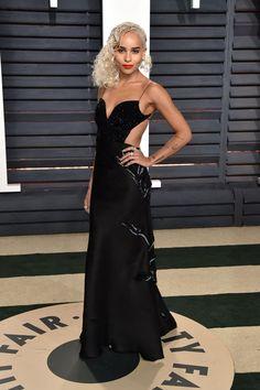 Zoe Kravitz in Armani Privé at the 2017 Vanity Fair Oscar Party #2017