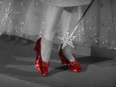 Click your heels together three times. A pair of sparkling ruby slippers actress Judy Garland wore as Dorothy in the classic Wizard of Oz has been missing Judy Garland, Queen Latifah, Bill Cosby, Rachel Weisz, Diana Ross, Jimmy Choo, Ruby Red Slippers, Silver Slippers, Movie Facts
