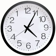 Buy Backwards Clock White Black Novelty 1980's Friends Decor for R385.00