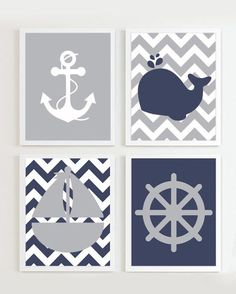 He encontrado este interesante anuncio de Etsy en https://www.etsy.com/es/listing/156625439/nautical-prints-navy-grey-set-of-4-beach