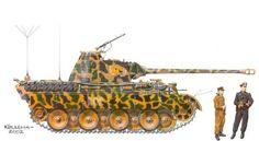 Пантера А . №-RO2 .Дивизия СС Лейб-штандарт Адольф Гитлер. Франция 1944года.