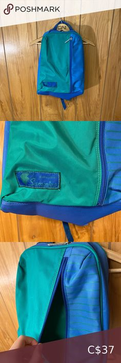 """Vintage 80s Samsonite Backpack Such a cute bag! In good condition.  Length: 18.5"""" Width: 13"""" Please comment if you have any questions! I'm always open to offers :) Vintage Bags Backpacks Vintage Bags, Vintage Handbags, Vintage Ladies, 70s Fashion, Fashion Tips, Fashion Trends, Vintage Backpacks, Band Tees, Band T Shirts"""