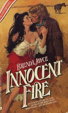 Original cover for Innocent Fire by Brenda Joyce Romance Novel Covers, Romance Novels, Brenda Joyce, Historical Romance Books, Fire Book, Book Cover Art, Book Covers, Pulp Fiction, Action Move