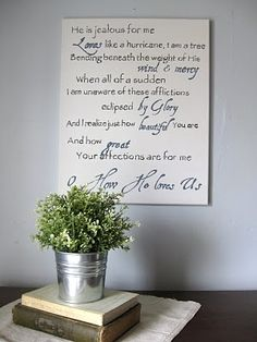 I absolutely love this sign, I really want to make one for our living room!!