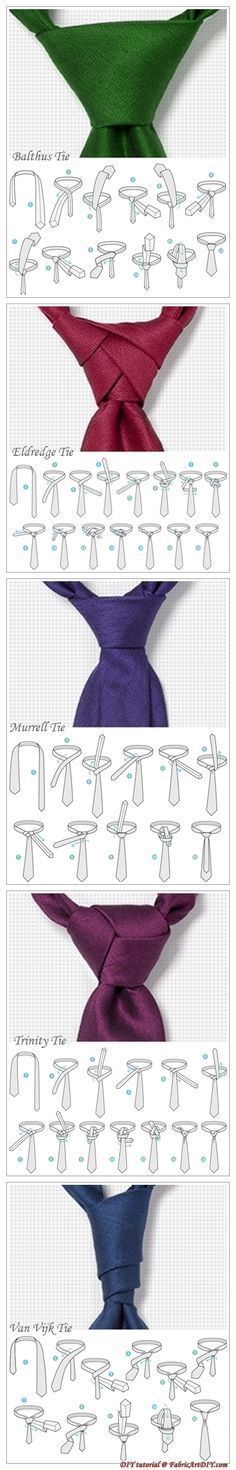 Las mil y una formas de hacerte el nudo de la corbata, saliéndote de lo… Más