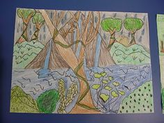 Rousseau inspired jungle_Mrs. Knight's Smartest Artists: 2nd grade