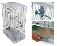 Bird Cage Medium House Stand Budgies Canaries Lovebirds Finches Pet Supplies New #Hagen
